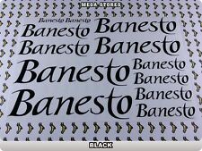 BANESTO Stickers Decals Bicycles Bikes Cycles Frames Forks Mountain BMX 63E