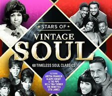 STARS OF VINTAGE SOUL feat. RAY CHARLES, ARETHA FRANKLIN, MARY WELLS, 3 CD NEU