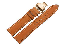 18-22mm Genuine Calf Leather Watch Band RG Deployant Clasp Strap For Longines DW