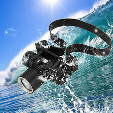 Waterproof 2000Lm CREE XM-L2 LED Diving SCUBA Zoom Stirnlampen Headlamp Lampen