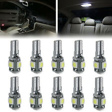 10pcs T10 5050 5SMD LED Canbus Error Free Car Side Wedge Light Bulb With Lens