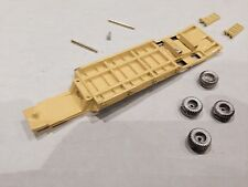 ULRICH 1/87 HO SCALE PAINTED EQUIPMENT TRAILER WITH BEAVER TAIL & RAMPS