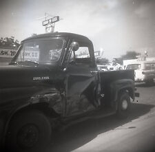 Ford F100 Wreck - c1950s - Vintage B&W 120mm Negative
