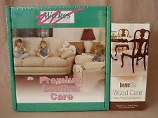 Wood & Leather Furniture Care Kit Cleaner Protection Cleaning Cloth NEW~Sealed