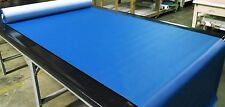 "10 YARDS PACIFIC BLUE FAUX LEATHER AUTO UPHOLSTERY FABRIC VINYL 54""W PLEATHER"