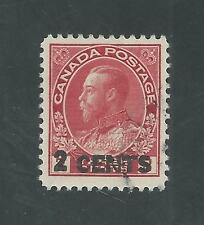 CANADA # 139 ( DIE l ), Used KING GEORGE V, SURCHARGED