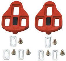 Wellgo RC-1 Cleat Set Road Bike WAM Cleats 6 Degree Float Red