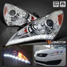 For 2010-2012 Genesis 2Dr Coupe SMD LED DRL Crystal Clear Projector Headlights