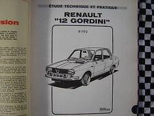 revue technique RENAULT 12 GORDINI / français