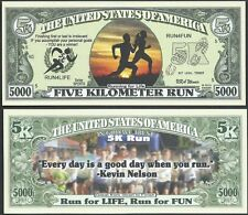 5K RUN, RUN FOR LIFE, RUN FOR FUN 5000 DOLLAR BILL - Lot of 10 BILLS