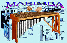 How to Build a Marimba 3 of 4 octave 37 or 49 key Printed Article and Plans