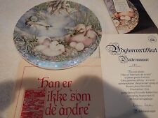 Not like the others plate - ugly duckling - by Karen Burnholt - 1985
