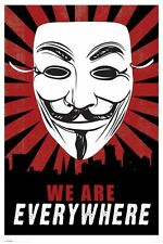 DRAMA MOVIE POSTER We Are Everywhere Guy Fawkes Mask