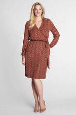 LANDS' END Rich Paprika Weave Print Georgette Dress, 22WP *NWT $109