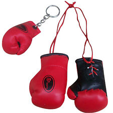 Mini Boxing Gloves / Miniature Boxing Gloves With Free Key Chain Red