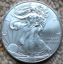 2012 Silver Eagle 1oz Bullion Coin  - (American Silver Bullion) with capsule