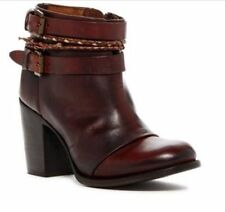Freebird by Steven Lion Leather Dark Brown Cognac Ankle Boot Size 9  Women's
