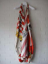 MARTIN MARGIELA SS10 Red White Logo Printed Halter Dress 42/6 New!