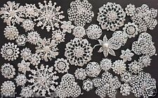 64 pcs vintage style Lot rhinestone crystal brooch bridal wedding bouquet kit