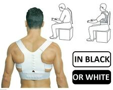 1 M White Magnetic Back Shoulder Spine Corrector Belt Adult Birthday Xmas Gift