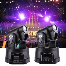 2x 15W LED MINI Moving Head Light 13ch DJ Stage Disco Club DMX Wedding Party