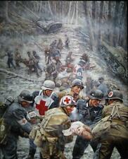 """A Time to Heal"" Don Stivers Limited Edition Print - Huertgen Forest 1944 WW II"