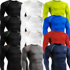 Mens BASE LAYER Body gear SKIN Compression Long sleeve shirts Tight under Top