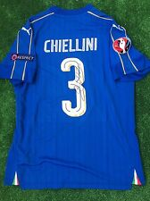 CHIELLINI ITALY EURO 2016 FRANCE AS MATCH WORN ISSUED SIGNED 16 JUVENTUS