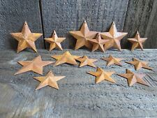"100 pc Lot Rusty Stars 50- 2.25"" and 50- 1.5"" Primtive Country Metal Barn Stars"