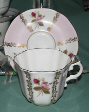 Fine Bone China-ROYAL GRAFTON Tea Cup & Saucer England-Pink Teacup Rose panel