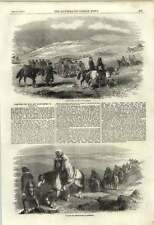 1855 Carrying The Wounded And Sick Frostbitten To Balaklava Devon Snow Footmarks