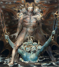 The Great Red Dragon and the Beast from the Sea, William Blake ART CANVAS print