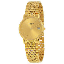 Tissot Classic Desire Champagne Dial Gold-tone Unisex Watch T52548121