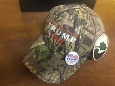 TRUMP USA Republican  Camo Baseball Cap Mossy Oak w/ FREE DONALD TRUMP 2016 PIN