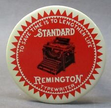 SMALLER SIZE vintage STANDARD REMINGTON TYPEWRITER paperweight pocket mirror *