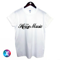 ENJOY HOUSE MUSIC PRINTED MENS T SHIRT DANCE DJ IBIZA TEE WOMENS YOUTH TOP CLUB