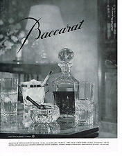 PUBLICITE ADVERTISING 044   1960    BACCARAT CRISTAL   art de la table