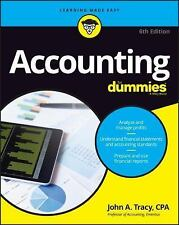 Accounting for Dummies by John A. Tracy (2016, Paperback)