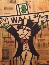 Wall Street Monopoly Art Print (2pc.)  Alec Banksy Lithograph Print LARGE
