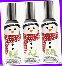 3 Bath & Body Works 'TIS THE SEASON Concentrated Room Spray Air Refresher 1.5 oz