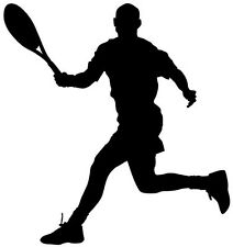 (nr161) Sport Tenista calcomanía Vinilo Adhesivo Para Pared Ventana camión coche Laptop