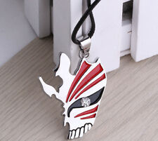Anime Bleach Kurosaki ichigo Mask Logo Metal Necklace Unisex Chain Pendant