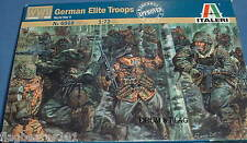 ITALERI 6068. WW2 GERMAN ELITE TROOPS. 1:72 SCALE PLASTIC FIGURES. WWII GERMANS