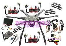 "FPV 7"" screen TX RX 700TVL cam S550 F550 Carbon Fiber Hexacopter 6 set motor esc"