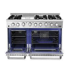 "2 Years Warranty|THOR KITCHEN 48"" 6 Burner Gas Range With Double Oven V3J8"