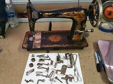 Antique 1900 Singer Model 27 Sewing Machine SN#N308038 - Turns Nicely