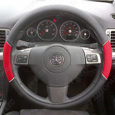 TOYOTA YARIS STEERING WHEEL COVER BLACK LEATHER LOOK REDPANEL INSERTS 1446
