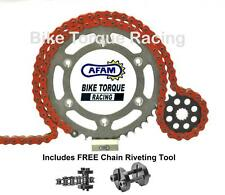 Kawasaki ZX10R C1-C2 04-05 AFAM Orange Chain & Sprocket Kit + Rivet Tool