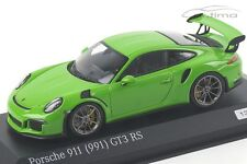 1:43 MINICHAMPS 2015 PORSCHE 911 (991) GT3 RS yellow green LE 200 cartima excl