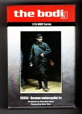 THE BODY MINIATURES 35054 - GERMAN MOTORCYCLIST #1 (only figure) 1/35 RESIN KIT